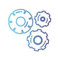 processo de engenharia da indústria de engrenagens de linha vetor