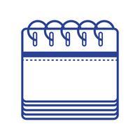informações de calendário de linha para o dia do evento organizador vetor