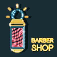 baber shop neon ícone decoração sinal vetor