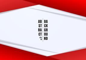 O encabeçamento e os pés de página abstratos do molde vermelhos e os triângulos geométricos cinzentos contrastam o fundo branco com espaço da cópia. Você pode usar para design corporativo, capa brochura, livro, banner web, publicidade, cartaz, folheto, pa