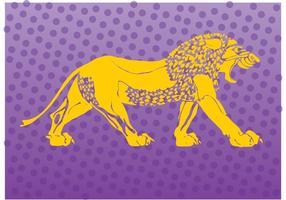 Logotipo do logotipo do leão vetor