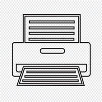 Sinal de símbolo de ícone de impressora vetor