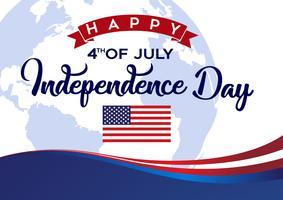 Feliz dia da independência de 4 de julho vetor