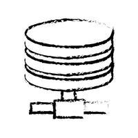 figura armazenamento de dados da tecnologia do disco rígido vetor