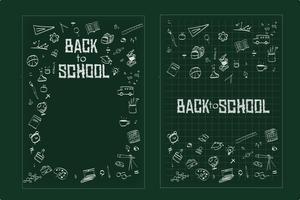 De volta à escola, fundo de conceito de educação com ícones de arte de linha e símbolos