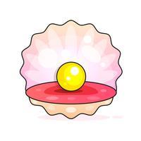 Melhor qualidade bela Natural pérola aberta Shell Close-Up realista único objeto valioso imagem vetorial