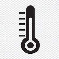 Sinal de símbolo de ícone de termômetro vetor