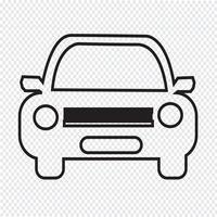 Sinal de símbolo de ícone de carro vetor