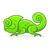 Ícone de camaleão. Ilustração dos desenhos animados de andar de camaleão vetor