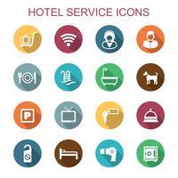ícones de serviço de hotel