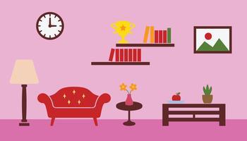 vetor de sala de estar