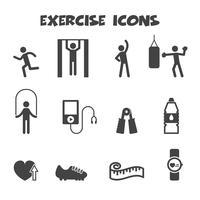 símbolo de ícones de exercício