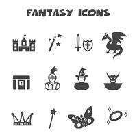 símbolo de ícones de fantasia vetor