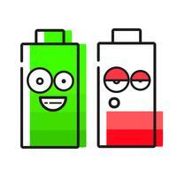 Ícone de bateria no fundo branco para seu projeto vetor