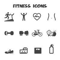 símbolo de ícones de aptidão vetor
