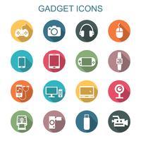 ícones de sombra longa de gadget