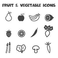 ícones de frutas e vegetais