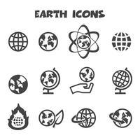 símbolo de ícones de terra vetor