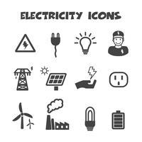 símbolo de ícones de electricidade