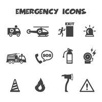 símbolo de ícones de emergência vetor