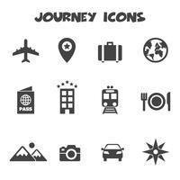 símbolo de ícones de viagem