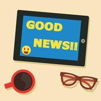 boas notícias vector design