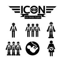 pessoas, ícone, símbolo, sinal