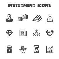 símbolo de ícones de investimento vetor