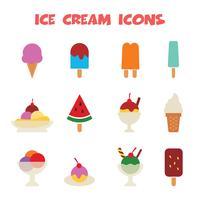 ícones de sorvete vetor