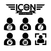 pessoas, ícone, símbolo, sinal vetor