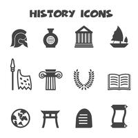 símbolo de ícones da história vetor