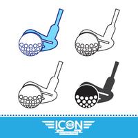 Sinal de símbolo de ícone de golfe vetor