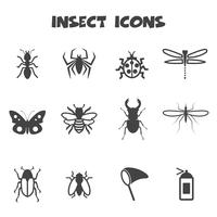 símbolo de ícones de insetos vetor