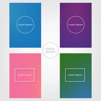 Design de capa mínima abstrata. Fundo colorido do inclinação de intervalo mínimo. Vetores ilustrações.