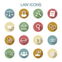 ícones de longa sombra de lei