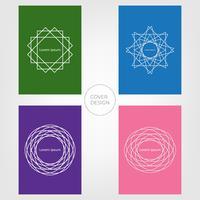Design de capa mínima abstrata. Fundo colorido e geométrico. Vetores ilustrações.