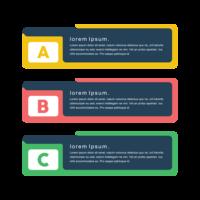 Banners de png vector conceito criativo colorido