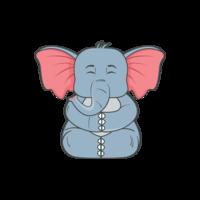 Ilustração de elefante png vector mínima