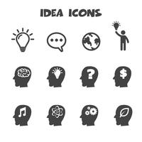 símbolo de ícones de ideia vetor