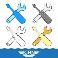 Sinal de símbolo de ícone de ferramentas vetor