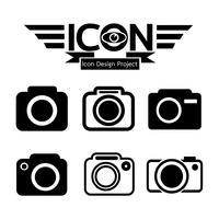 Sinal de símbolo de ícone de câmera vetor