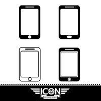 sinal de símbolo de ícone de smartphone