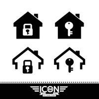 Casa, ícone, símbolo, sinal vetor