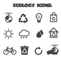 símbolo de ícones ecologia vetor