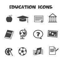 símbolo de ícones de educação vetor