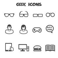 símbolo de ícones geek vetor