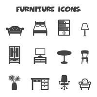 símbolo de ícones de móveis vetor