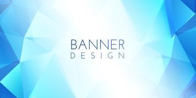 Design de banner baixo poli vetor