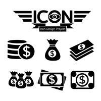 sinal de símbolo de ícone de dinheiro