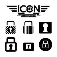 Sinal de símbolo de ícone de bloqueio